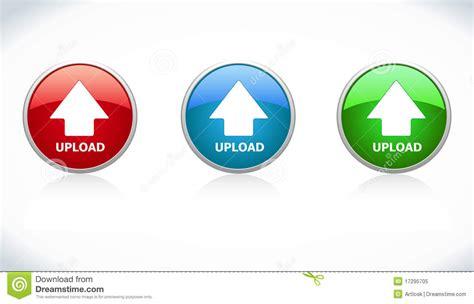 Button Upload Stock Vector. Illustration Of Blue, Sphere