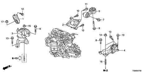 Genuine Honda Mounting Transmission