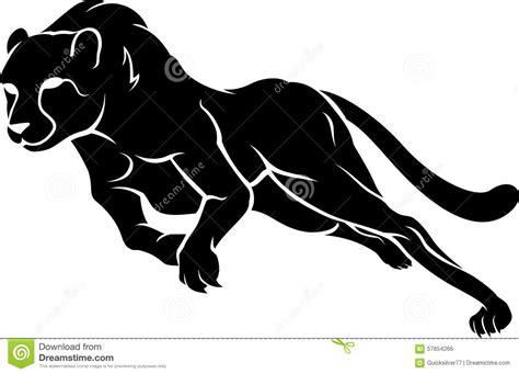 Silhouette Rapide De Course De Guépard Illustration de ...