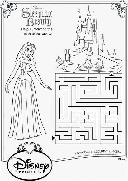Disney Sleeping Beauty Princess Printable Worksheets Activity