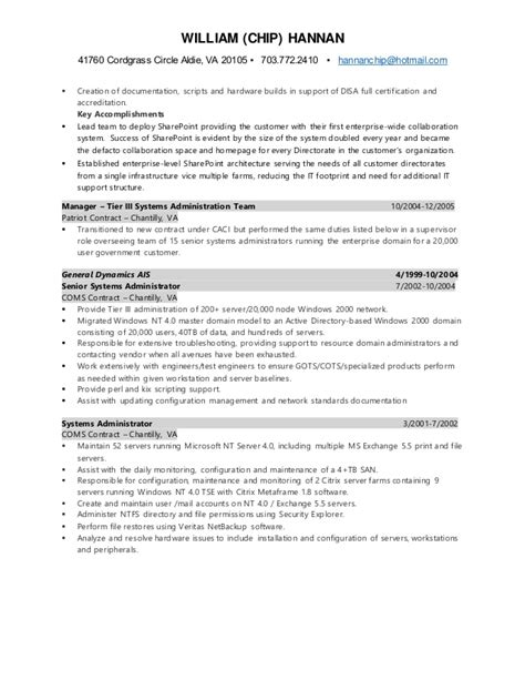 Chip Resume by Chip Hannan Resume 2016