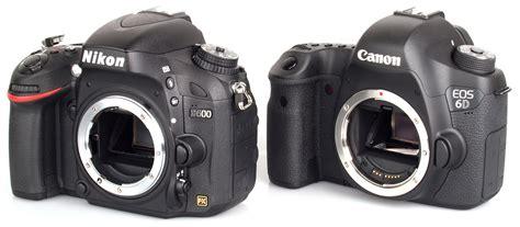 canon 6d dslr canon eos 6d vs nikon d600 dslr comparison review ephotozine