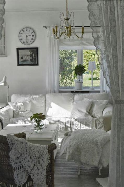 white and shabby scandinavian living romantic shabby chic living room ideas
