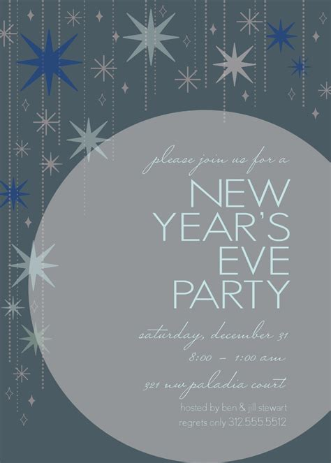 New Year's Eve Star Invitation