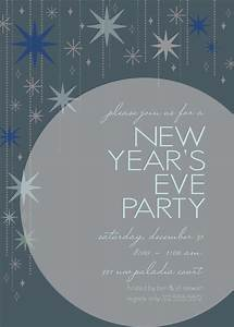 New year39s eve star invitation for New year invite templates free