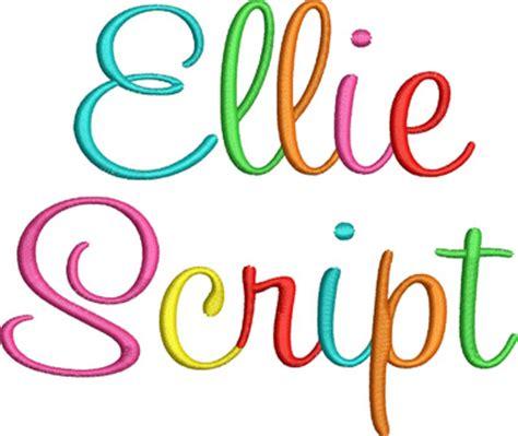 ellie script embroidery font digistitches machine embroidery designs
