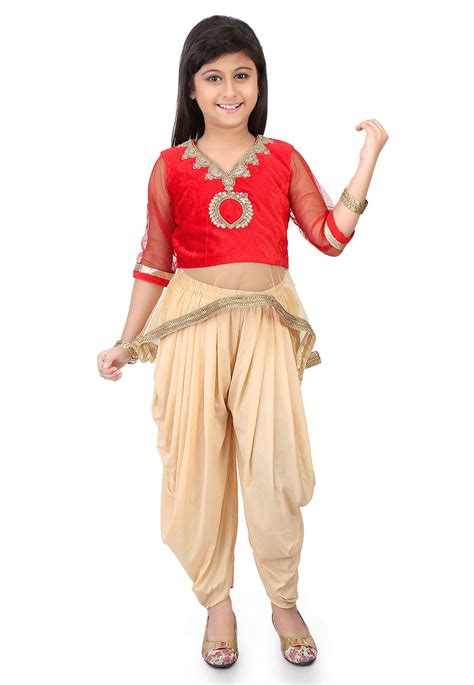 Embroidered Velvet Top embroidered velvet and net top with dhoti pant in unj772
