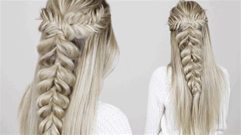 hairstyle fishtail  pull