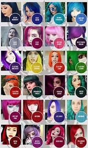 Manic Panic Colour Chart Classic Dyes Manic Panic Hair