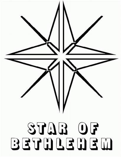 Star Coloring Christmas Bethlehem Pages Drawing Printable
