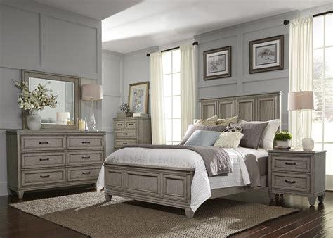 grayton grove driftwood panel bedroom set  br qpb liberty