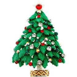 green christmas tree swarovski crystal pin brooch fantasyard costume jewelry accessories