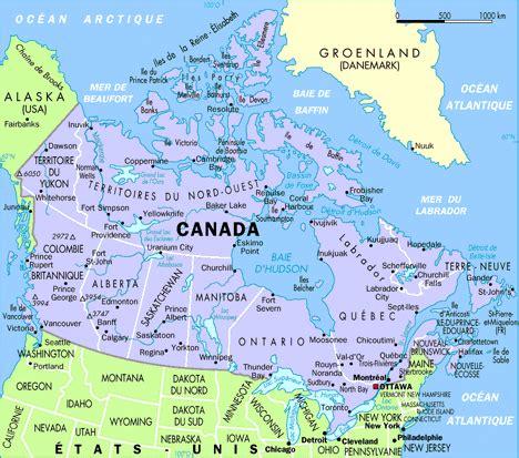 Carte Du Canada Avec Villes by Cartograf Fr Carte Du Canada