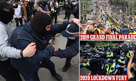 Anti-lockdown protesters clash with police in Melbourne ...