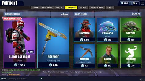 daily shop ski skins fortnitebr