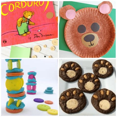 20 corduroy inspired crafts and activities for 680 | Teddy Bear Crafts and Snacks for Preschoolers