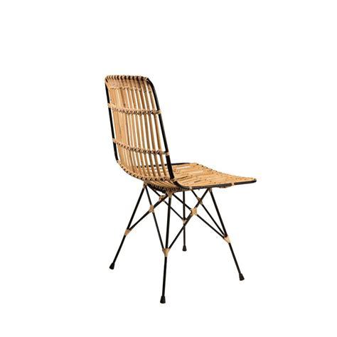 canapé hollandais chaise métal et rotin kubu par drawer