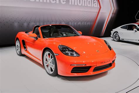 red porsche boxster 2017 2017 porsche 718 boxster debuts with turbocharged inline 4