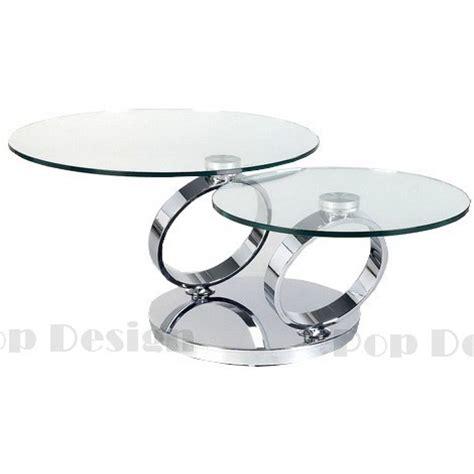 promotion canape d angle table basse ronde pivotante basilos socle inox effet