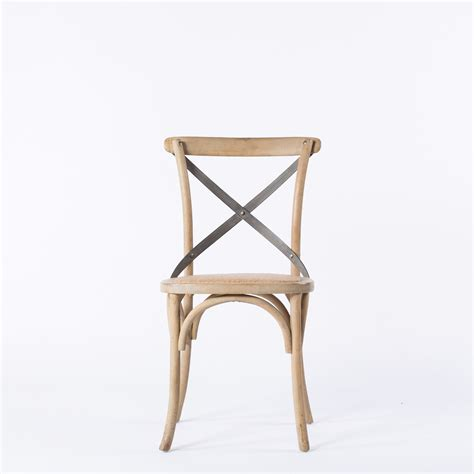 crossback chair metal acento
