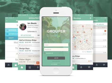 app grouper concept dribbble ui