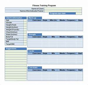 Training plan template 19 download free documents in for Fitness program template free download