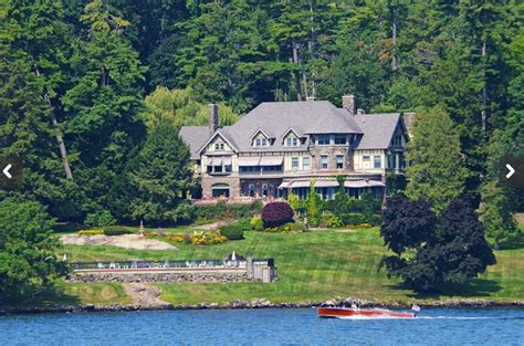 wikiosco   square foot tudor revival waterfront mansion  lake george ny homes