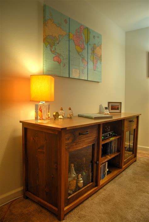 ana white hifi living room console diy projects