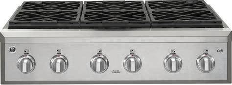 ge cgusehss   natural gas rangetop   edge  edge reversible burners