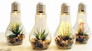 Große Glühbirne Als Lampe : 4x led deko gl hbirne mit kunstpflanze glas gl hlampe h ngelampe tisch leuchte licht lampe ~ Eleganceandgraceweddings.com Haus und Dekorationen