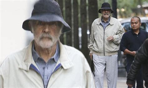 Sean Connery, 87, Walks With A Cane In New York City