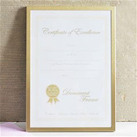 document certificate photo frame matt gold amazonco