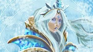 Crystal Maiden Portrait Fan Art - DOTA 2 Wallpapers