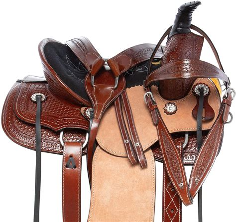 ranch horse saddle trail barrel western leather package tack saddles beginner pleasure racing
