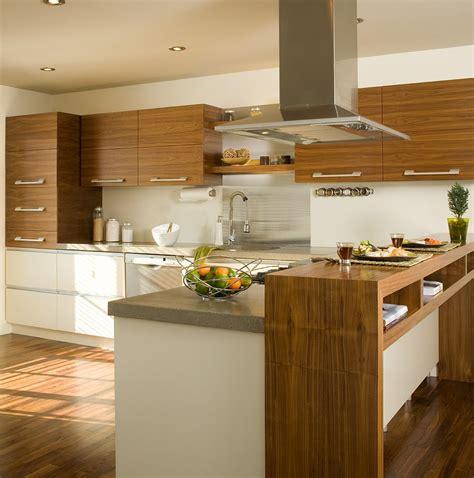 comptoir de cuisine armoires de cuisine réalisées en noyer naturel modules du