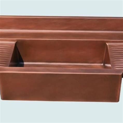 Apron Sink With Drainboard by Crafted Copper Sink With Apron 2 Ribbed Drainboards