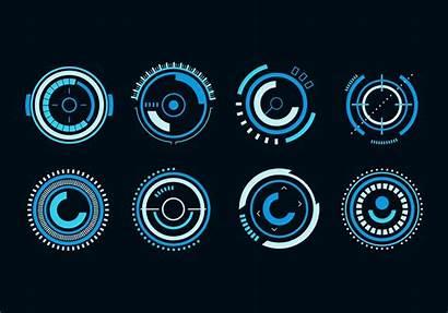 Futuristic Hud Vector Circle 3d Icons Graphics