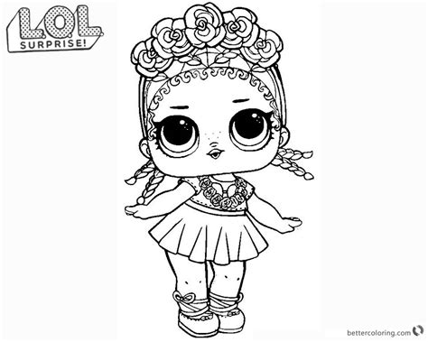 Lol Surprise Doll Coloring Pages Coconut Q.t.