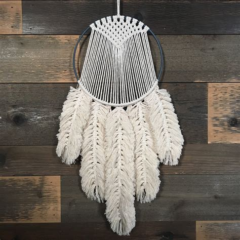 macrame feather tutorial etsy