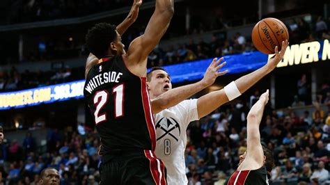 recap nuggets blow  big lead lose  miami heat   denver stiffs