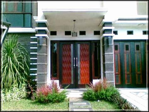 desain teras rumah minimalis  modern  asri