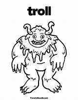 Billy Gruff Goats Coloring Three Troll Goat Printable Colouring Ugly Getcolorings Popular Pi Worksheets sketch template