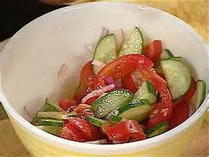 Cucumber Onion & Tomato Salad
