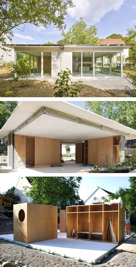 Movable House In Riehen by Ein Mobiles Haus Aus Holz Beton Und Glas In Riehen