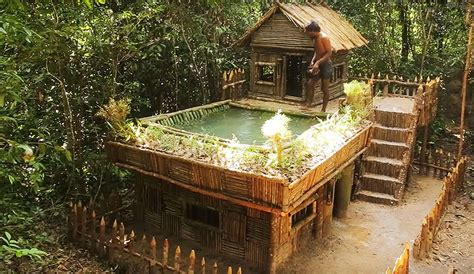 man built   incredible jungle house