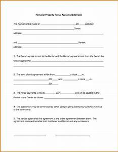 7 simple lease agreement printable receipt for Simple free lease agreement