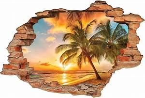 Image Trompe L Oeil : stickers trompe l 39 oeil 3d tahiti des prix 50 moins cher ~ Melissatoandfro.com Idées de Décoration