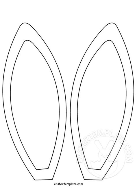 bunny ears template coloring page easter template