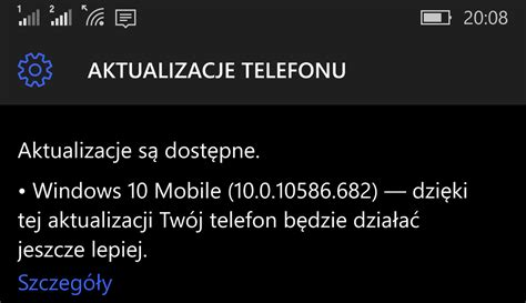 windows 10 mobile build 10586 682 dostępny dla niekt 243 rych