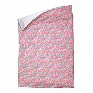 Housse De Couette Fleurie : housse de couette little flower 100 x 140 cm fuchsia ~ Melissatoandfro.com Idées de Décoration